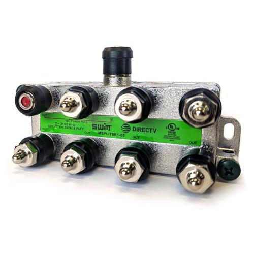 8 Way Splitter, 1 Port Power Pass, 2-2150MHz