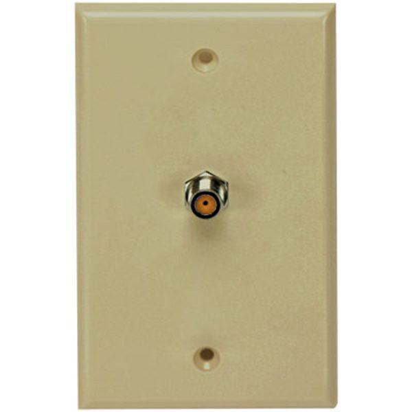 PV SCTE Ivory Wall Plate, Single HF F81, UL DTV Approved