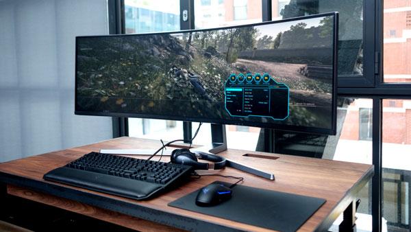 Large Business Monitor on desk